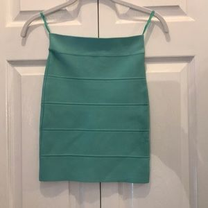 Bcbg teal mini power skirt size xs